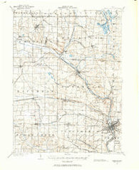 Massillon Ohio Historical topographic map, 1:62500 scale, 15 X 15 Minute, Year 1901