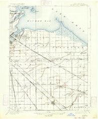 Maumee Bay Ohio Historical topographic map, 1:62500 scale, 15 X 15 Minute, Year 1900