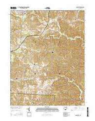 McArthur Ohio Current topographic map, 1:24000 scale, 7.5 X 7.5 Minute, Year 2016