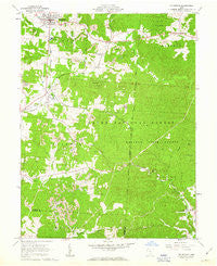 Mc Arthur Ohio Historical topographic map, 1:24000 scale, 7.5 X 7.5 Minute, Year 1961