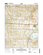 Millersport Ohio Current topographic map, 1:24000 scale, 7.5 X 7.5 Minute, Year 2016 from Ohio Map Store