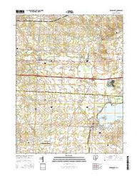 Millersport Ohio Current topographic map, 1:24000 scale, 7.5 X 7.5 Minute, Year 2016