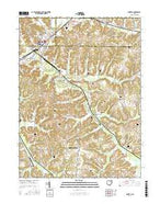 Minerva Ohio Current topographic map, 1:24000 scale, 7.5 X 7.5 Minute, Year 2016 from Ohio Map Store