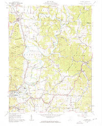 Minford Ohio Historical topographic map, 1:24000 scale, 7.5 X 7.5 Minute, Year 1961