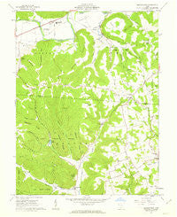 Morgantown Ohio Historical topographic map, 1:24000 scale, 7.5 X 7.5 Minute, Year 1961