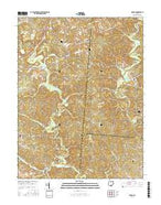 Mulga Ohio Current topographic map, 1:24000 scale, 7.5 X 7.5 Minute, Year 2016 from Ohio Map Store