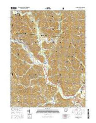 Nelsonville Ohio Current topographic map, 1:24000 scale, 7.5 X 7.5 Minute, Year 2016