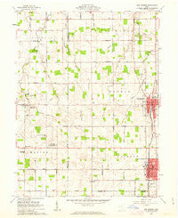 New Bremen Ohio Historical topographic map, 1:24000 scale, 7.5 X 7.5 Minute, Year 1961