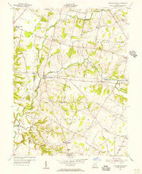 New Burlington Ohio Historical topographic map, 1:24000 scale, 7.5 X 7.5 Minute, Year 1955