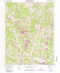 New Plymouth Ohio Historical topographic map, 1:24000 scale, 7.5 X 7.5 Minute, Year 1961