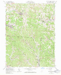 New Straitsville Ohio Historical topographic map, 1:24000 scale, 7.5 X 7.5 Minute, Year 1961