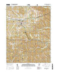 New Lexington Ohio Current topographic map, 1:24000 scale, 7.5 X 7.5 Minute, Year 2016
