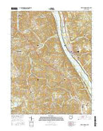 New Richmond Ohio Current topographic map, 1:24000 scale, 7.5 X 7.5 Minute, Year 2016 from Ohio Map Store
