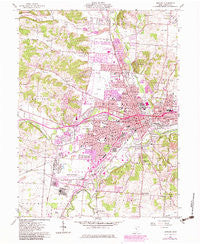 Newark Ohio Historical topographic map, 1:24000 scale, 7.5 X 7.5 Minute, Year 1961