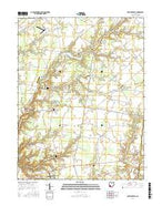 Newtonsville Ohio Current topographic map, 1:24000 scale, 7.5 X 7.5 Minute, Year 2016 from Ohio Map Store