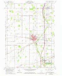 North Baltimore Ohio Historical topographic map, 1:24000 scale, 7.5 X 7.5 Minute, Year 1960