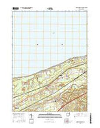 North Kingsville Ohio Current topographic map, 1:24000 scale, 7.5 X 7.5 Minute, Year 2016 from Ohio Map Store