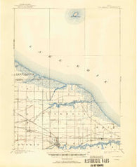 Oak Harbor Ohio Historical topographic map, 1:62500 scale, 15 X 15 Minute, Year 1900