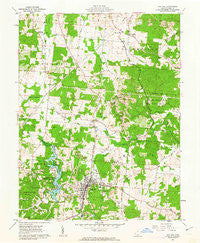 Oak Hill Ohio Historical topographic map, 1:24000 scale, 7.5 X 7.5 Minute, Year 1961