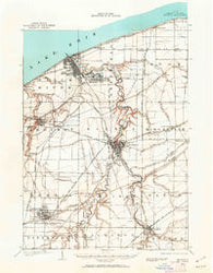 Oberlin Ohio Historical topographic map, 1:62500 scale, 15 X 15 Minute, Year 1901