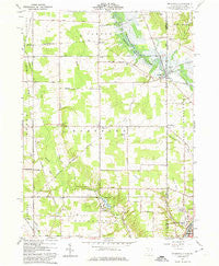 Orangeville Ohio Historical topographic map, 1:24000 scale, 7.5 X 7.5 Minute, Year 1961