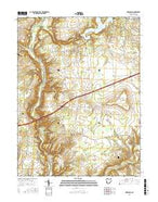 Oregonia Ohio Current topographic map, 1:24000 scale, 7.5 X 7.5 Minute, Year 2016 from Ohio Map Store