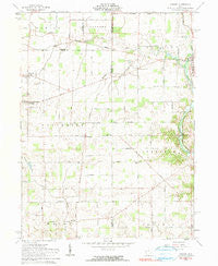Osgood Ohio Historical topographic map, 1:24000 scale, 7.5 X 7.5 Minute, Year 1961