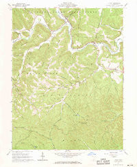 Otway Ohio Historical topographic map, 1:24000 scale, 7.5 X 7.5 Minute, Year 1961
