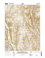 Oxford Ohio Current topographic map, 1:24000 scale, 7.5 X 7.5 Minute, Year 2016 from Ohio Map Store