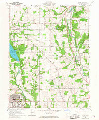 Oxford Ohio Historical topographic map, 1:24000 scale, 7.5 X 7.5 Minute, Year 1961