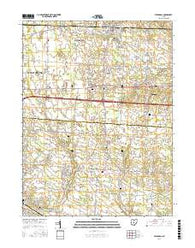 Pataskala Ohio Current topographic map, 1:24000 scale, 7.5 X 7.5 Minute, Year 2016