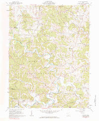 Patriot Ohio Historical topographic map, 1:24000 scale, 7.5 X 7.5 Minute, Year 1961