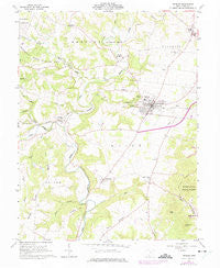 Peebles Ohio Historical topographic map, 1:24000 scale, 7.5 X 7.5 Minute, Year 1961