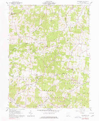 Petersburg Ohio Historical topographic map, 1:24000 scale, 7.5 X 7.5 Minute, Year 1961