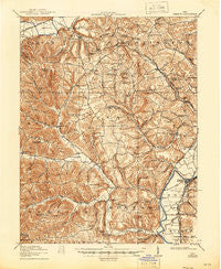 Piketon Ohio Historical topographic map, 1:62500 scale, 15 X 15 Minute, Year 1917