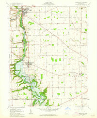 Pleasant Hill Ohio Historical topographic map, 1:24000 scale, 7.5 X 7.5 Minute, Year 1961