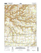 Pleasant Plain Ohio Current topographic map, 1:24000 scale, 7.5 X 7.5 Minute, Year 2016 from Ohio Map Store