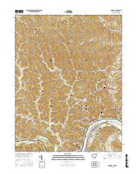 Pomeroy Ohio Current topographic map, 1:24000 scale, 7.5 X 7.5 Minute, Year 2016
