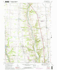 Powell Ohio Historical topographic map, 1:24000 scale, 7.5 X 7.5 Minute, Year 1967