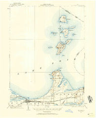 Put-In-Bay Ohio Historical topographic map, 1:62500 scale, 15 X 15 Minute, Year 1901