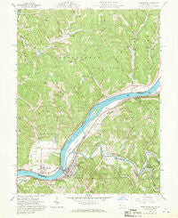 Raven Rock West Virginia Historical topographic map, 1:24000 scale, 7.5 X 7.5 Minute, Year 1961