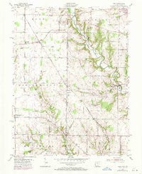 Reily Ohio Historical topographic map, 1:24000 scale, 7.5 X 7.5 Minute, Year 1955