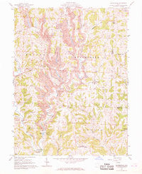 Reinersville Ohio Historical topographic map, 1:24000 scale, 7.5 X 7.5 Minute, Year 1961