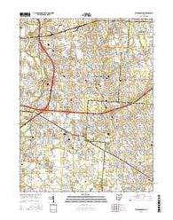 Reynoldsburg Ohio Current topographic map, 1:24000 scale, 7.5 X 7.5 Minute, Year 2016