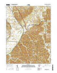 Richmond Dale Ohio Current topographic map, 1:24000 scale, 7.5 X 7.5 Minute, Year 2016