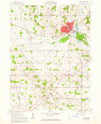 Rittman Ohio Historical topographic map, 1:24000 scale, 7.5 X 7.5 Minute, Year 1961