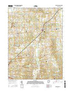 Rushsylvania Ohio Current topographic map, 1:24000 scale, 7.5 X 7.5 Minute, Year 2016 from Ohio Map Store