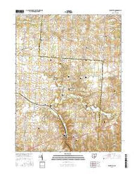 Rushville Ohio Current topographic map, 1:24000 scale, 7.5 X 7.5 Minute, Year 2016