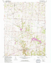 Rushville Ohio Historical topographic map, 1:24000 scale, 7.5 X 7.5 Minute, Year 1961