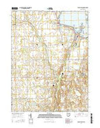 Russells Point Ohio Current topographic map, 1:24000 scale, 7.5 X 7.5 Minute, Year 2016 from Ohio Map Store